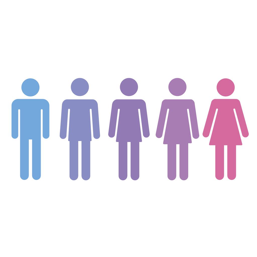 Gender fluid concept